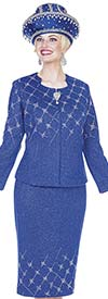 Elite Champagne 5160 Exclusive Knit Skirt Suit For Church