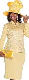Elite Champagne 4866 Knit First Lady Church Suit