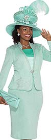 Elite Champagne 4868 Exclusive Knit Skirt Suit For Church