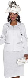Elite Champagne 4870 Womens Knit Suit With Cape Collar Jacket