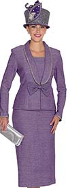 Elite Champagne 4969 Womens Knit Suit With Shawl Collar & Bow