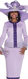 Elite Champagne 5053 Exclusive Knit Skirt Suit For Church