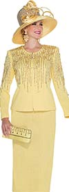 Elite Champagne 5060 Ladies Exclusive Knit Skirt Suit For Church