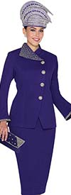 Elite Champagne 5062 Womens Embellished Knit Suit For Church