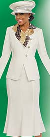 Fifth Sunday 52807 Womens Church Suit With Pleated Skirt