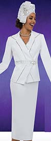 Fifth Sunday 52856-White - Skirt Suit For Church With Embellished Trims