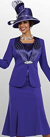 Fifth Sunday 52858-Purple - Three Piece Flared Skirt Suit For Church