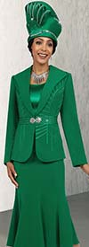 Fifth Sunday 52859-Kelly - Three Piece Flared Skirt Suit With Wide Lapels
