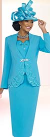 Fifth Sunday 52825-Blue Embroidered First Lady Church Suit