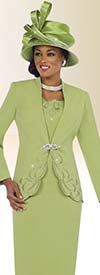Clearance Fifth Sunday 52825-Kiwi Embroidered First Lady Church Suit