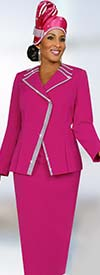 Fifth Sunday 52827-Fuchsia Church Suit For Women With Embellished Trim
