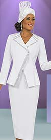 Fifth Sunday 52827-White Church Suit For Women With Embellished Trim