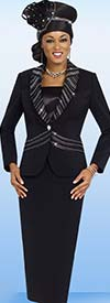 Fifth Sunday 52828-Black - First Lady Church Suit With Shawl Lapel