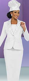 Fifth Sunday 52828-White - First Lady Church Suit With Shawl Lapel