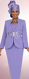 Fifth Sunday 52831-Lavender - Embroidered Two Piece Womens Church Suit