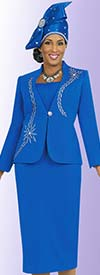 Clearance Fifth Sunday 52833-Royal Jewel Embellished Skirt Suit With Embroidery