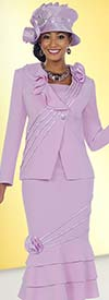 Clearance Fifth Sunday 52836-Orchid Layered Flounce Skirt Suit With Ruffles & Piping