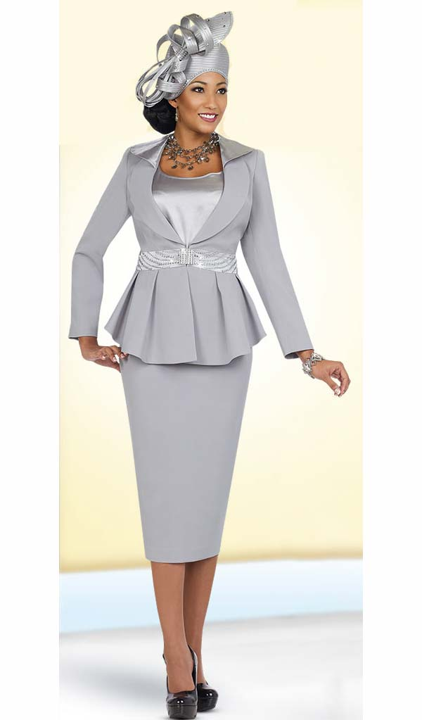 355615d13f1 Womens Church Suits by Fifth Sunday 52838-Platinum ... Plus Size Womens  Church Suits BenMarc International ...