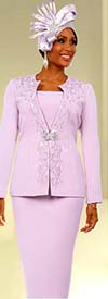 Fifth Sunday 52868-Orchid - Embellished Womens Church Suit
