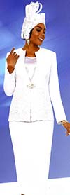 Fifth Sunday 52876-White - Skirt Suit With Embroidery Design Jacket