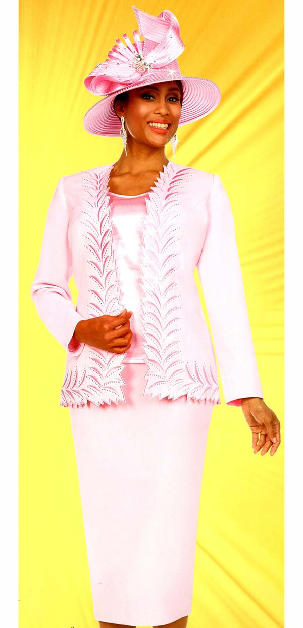 Fifth Sunday 52887-Pink - Skirt Suit With Intricate Trimmed Jacket