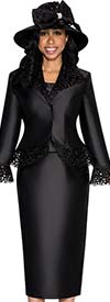 GMI G5332-Black - Womens Cut-Out Flare Sleeve Suit