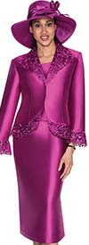 GMI G5332-Magenta - Womens Cut-Out Flare Sleeve Suit