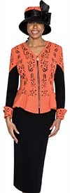 Clearance GMI G5362-Orange - Womens Two Piece Chuch Suit
