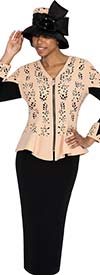 GMI G5362-Taupe - Womens Two Piece Chuch Suit