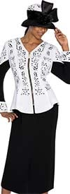 Clearance GMI G5362-White - Womens Two Piece Chuch Suit