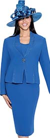Clearance GMI G6353-Perri - Skirt Suit With High Neck Rhinestone Embellished Jacket