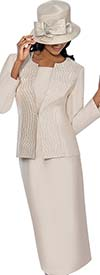 GMI G6553-Champagne - Skirt Suit With Embroidered Rhinestone Jacket