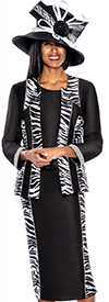 GMI G5653-Black - Womens Church Suits