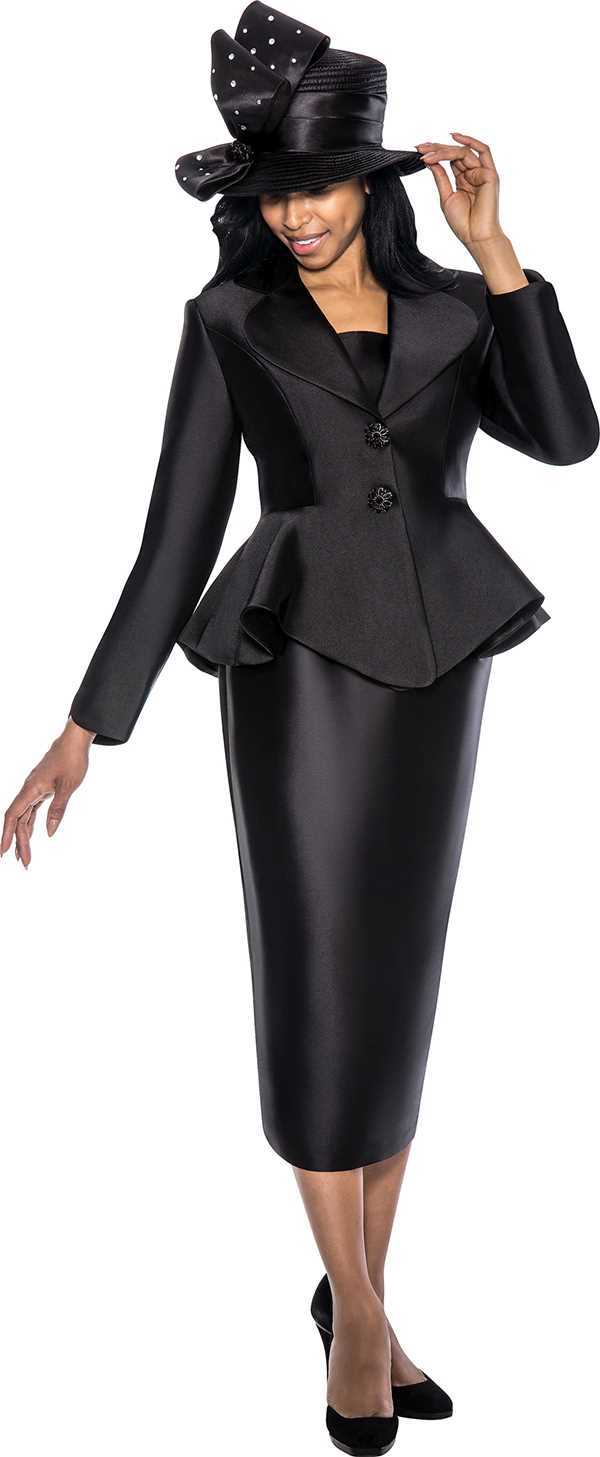 Fantastic Women Church Suits BLACK WHITE G4923   Not Just Church Suits