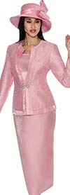 Clearance GMI G6093-Pink - Embellished Womens Church Suit