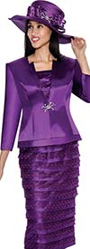 GMI G6103-Purple - Church Suit With Layered Skirt For Women