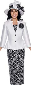 GMI G6213 - Printed Skirt Suit For Women With Peplum Jacket