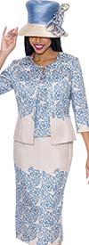 GMI G6283 - Floral Print Skirt Suit For Women