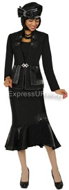 GMI G4263 Black - Womens Church Suits