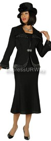 Clearance GMI G4292 Black - Womens Church Suits