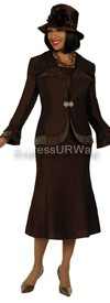 Clearance GMI G4292 Brown - Womens Church Suits