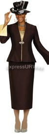 GMI G4703 Brown / Lt Gold - Womens Church Suits