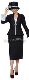 GMI G4703 Black / Silver - Womens Church Suits