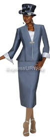GMI G4703 Charcoal / Silver - Womens Church Suits