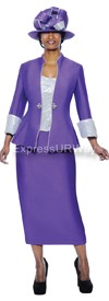 GMI G4703 Purple / Silver - Womens Church Suits