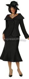 Clearance GMI G4712 Black - Womens Church Suits
