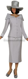 Clearance GMI G4802 Silver - Womens Church Suits