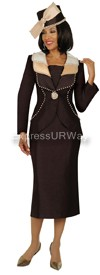 GMI G4862 Brown / Champagne - Womens Church Suits