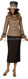 GMI G4902 Brown / Champagne - Womens Church Suits