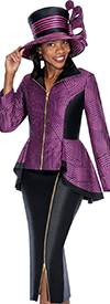 GMI G5482 Purple / Black - Womens Church Suits